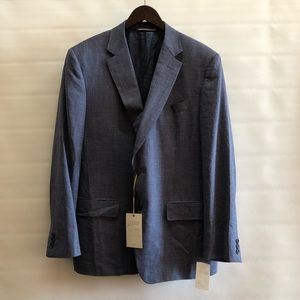 Canali men's textured travel blazer 52S